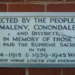 Maleny WW2 and Later Honour Board detail right side