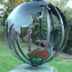 Maleny Memorial Cairn sculptured globe